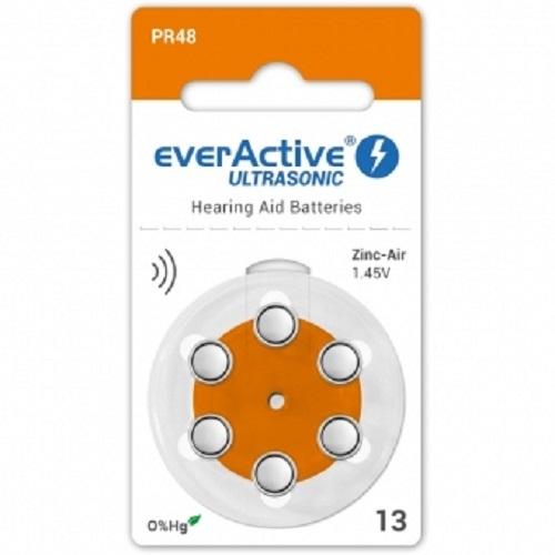 Baterii speciale pentru aparate auditive model  A13 EverActive Ultrasonic 6 buc 0