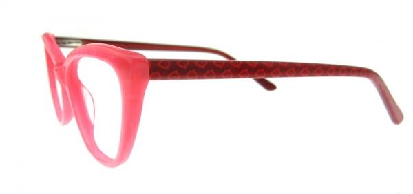 Rame de ochelari, model de dama, design modern, culoare - roz, include toc si laveta 1