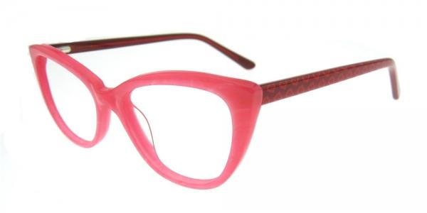 Rame de ochelari, model de dama, design modern, culoare - roz, include toc si laveta 2