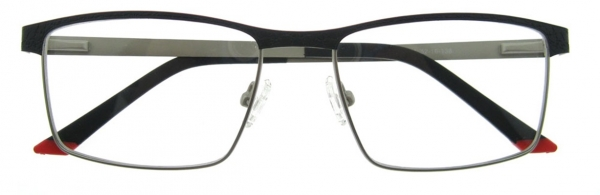 Rame de ochelari, model barbatesc, design modern, culoare - negru, include toc si laveta [1]