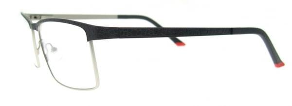 Rame de ochelari, model barbatesc, design modern, culoare - negru, include toc si laveta 2