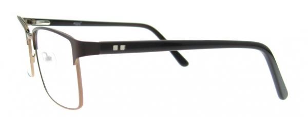 Rame de ochelari, model barbatesc, design modern, culoare - negru, include toc si laveta 1