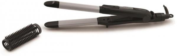 Placa de par si ondulator 2 in 1, ceramica speciala design ergonomic, ideala pentru a indrepta sau ondula parul, incalzire rapida, max. 200 °C Glamour, 2