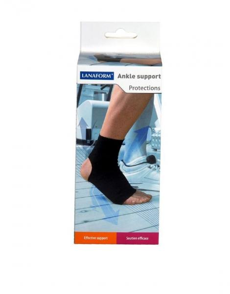 Suport pentru glezna reglabil, compatibil cu activitatea fizica, amelioreaza durerea si ofera suport, glezniera marime XL negru [1]