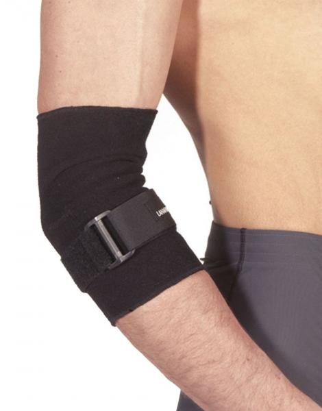 Suport reglabil pentru cot Lanaform, reglabil negru, marime L, protejeaza si sprijina articulatiile, confort total, sistem de strangere reglabil 1