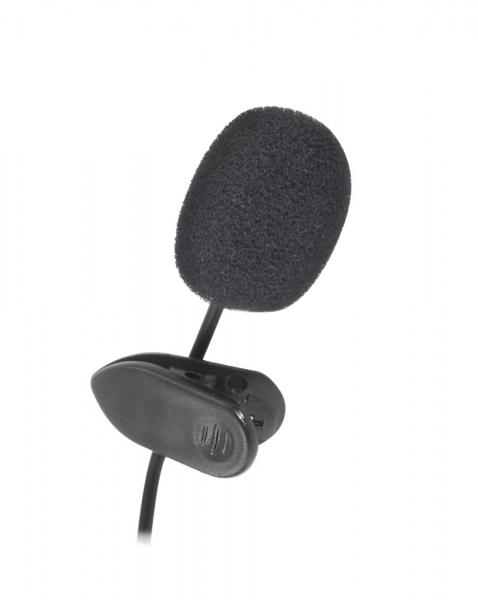 Microfon lavaliera cu clip Voice, caciula antivant si fir Esperanza, compatibil cu toate dispozitivele audio cu port jack 3.5 mm 3