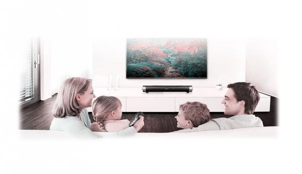 Soundbar Bluetooth 10W RMS cu microfon pentru apeluri telefonice, conectivitate 10m compatibila si cu televizoarele smart 1