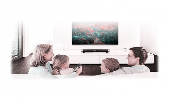 Soundbar Bluetooth aux in, microSD 6W RMS cu microfon, conectivitate 10m compatibile si cu televizoarele smart [0]