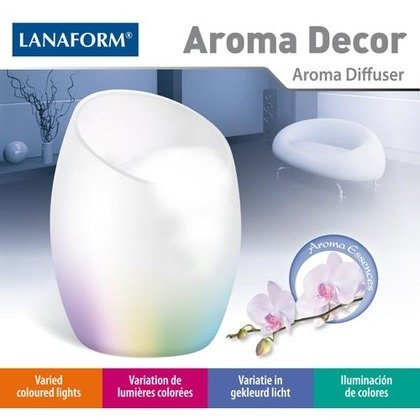 Difuzor de arome, uleiuri esentiale Aroma Decor, iluminare LED cu 6 culori, design modern, alb [0]