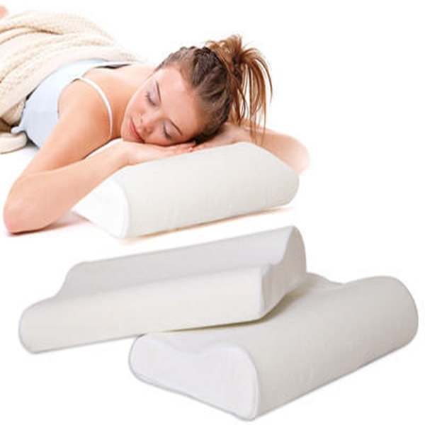 Set 2 perne ergonomice cu spuma cu memorie pentru un somn relaxant, 47x30x10 cm 3