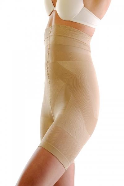 Colanti modelatori elastici Alto talie inalta cu efect de fermitate pentru picioare, fese si talie, bej, marime M 0