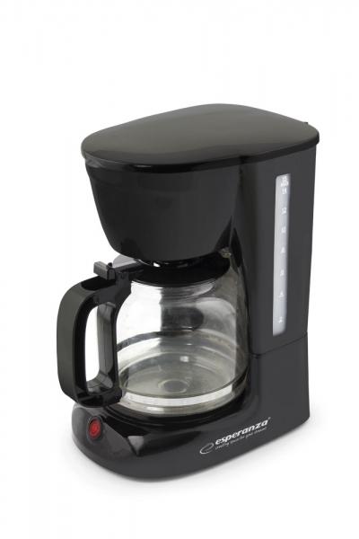 Cafetiera, filtru de cafea negru, capacitate 1.8l, sistem anti-picurare 0