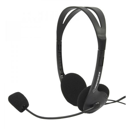 Casti stereo cu microfon pentru gaming filme si muzica, conexiune cu fir mufe jack  2 x  3.5 mm usoare si comode 0
