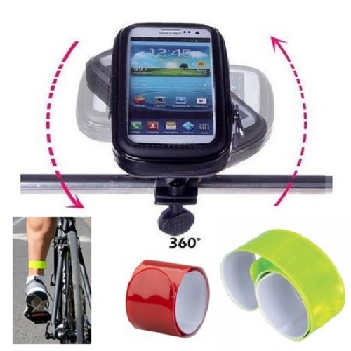 """Suport Telefon pentru bicicleta si motocicleta, rezistent la umezeala, marimea L ecran pana la 5.5"""", rotatie in jurul axei 360 ° [0]"""