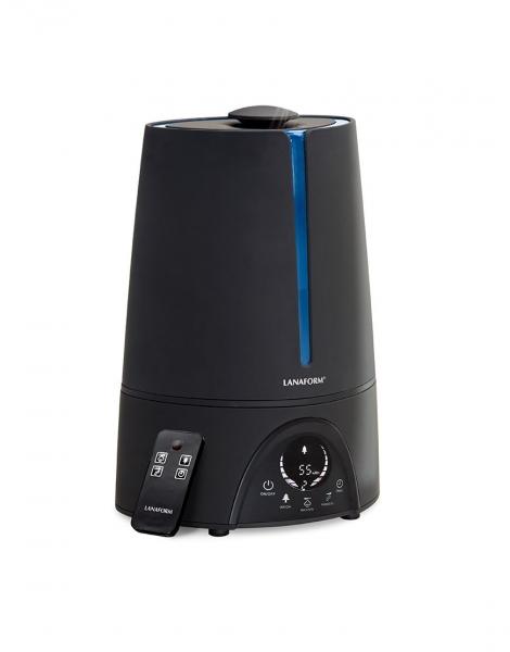 Umidificator aer Lanaform - New Vapolux capacitate 4.5l , detectare si afisare umiditate, 3 viteze, telecomanda, autonomie 12h, productie de ioni negativi 0