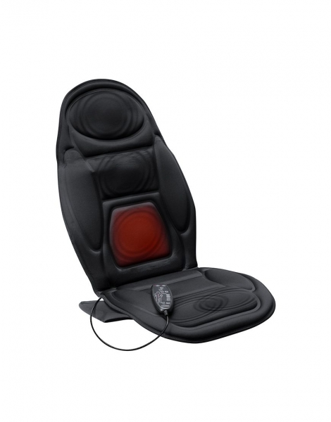 Saltea masaj spate cu vibratii si incalzire Lanaform, 5 motoare, 4 zone masaj, 4 intensitati, timer programabil 0