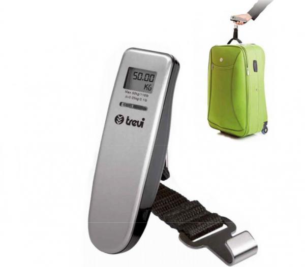 Cantar de bagaje Trevi Italia digital portabil,precizie inalta, max. 50kg, alimentare CR2032 3V - baterie cadou [0]