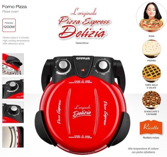 Cuptor pizza G3Ferrari Delizia special cu suprafata de coacere din piatra refractara, termoregulator pana la 390° C si timer cu atentionare sonora 2