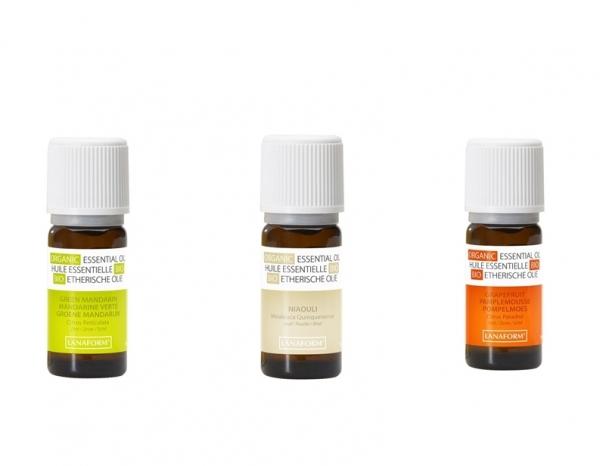 Set uleiuri esentiale organice100%, mandarine, niaouli si grapefruit, 3 buc 0
