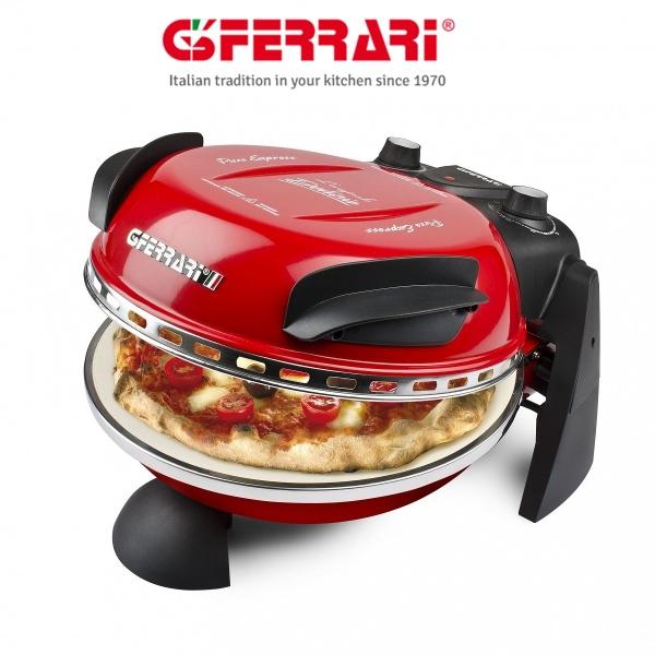 Cuptor pizza G3Ferrari Delizia special cu suprafata de coacere din piatra refractara, termoregulator pana la 390° C si timer cu atentionare sonora 1