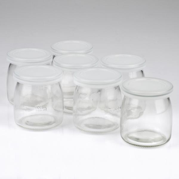 Aparat pentru preparat iaurt cu 7 borcane de sticla x 180ml cu capac, 20w, alb Girmi Italia 3