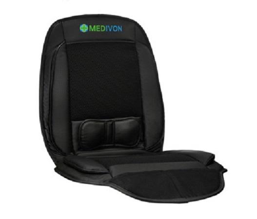 Saltea de masaj cu vibratii, optiuni incalzire  ventilatie si racire utilizare casa  masina  birou control usor prin telecomanda 1