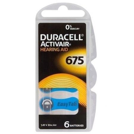 Set 6  Baterii Duracell Activair   A675  pentru aparate auditive 0
