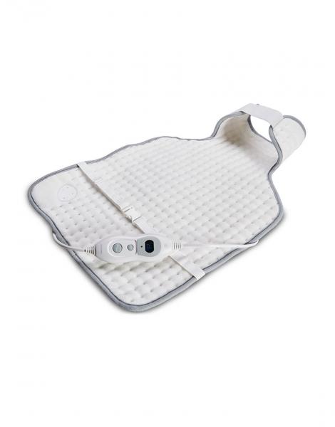 Perna pentru spate si gat cu incalzire electrica, micro-fibra, 60*40 cm, 3 setari temperatura, protectie la supraincalzire, alba 1