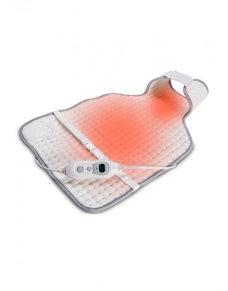 Perna pentru spate si gat cu incalzire electrica, micro-fibra, 60*40 cm, 3 setari temperatura, protectie la supraincalzire, alba 2