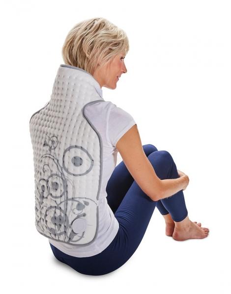 Perna pentru spate si gat cu incalzire electrica, micro-fibra, 60*40 cm, 3 setari temperatura, protectie la supraincalzire, alba 0
