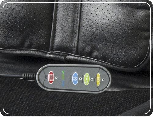 Saltea de masaj cu vibratii, optiuni incalzire  ventilatie si racire utilizare casa  masina  birou control usor prin telecomanda 2