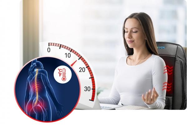 Saltea de masaj cu vibratii, optiuni incalzire  ventilatie si racire utilizare casa  masina  birou control usor prin telecomanda 0