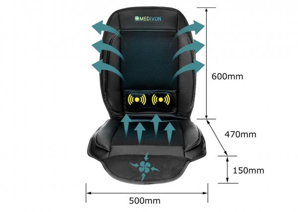 Saltea de masaj cu vibratii, optiuni incalzire  ventilatie si racire utilizare casa  masina  birou control usor prin telecomanda 4