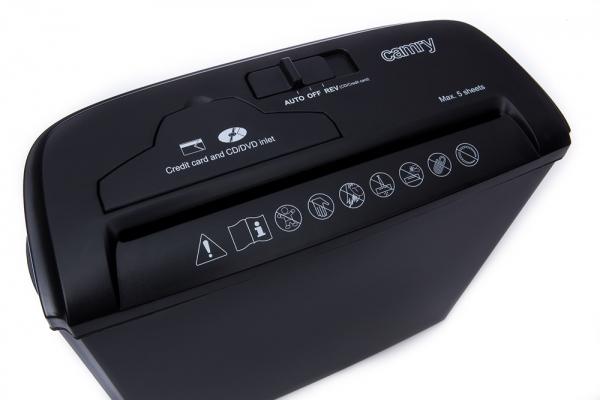 Distrugator tocator de hartie , CD-uri, DVD-uri sau carduri plastic, functie auto, functie reverse 3