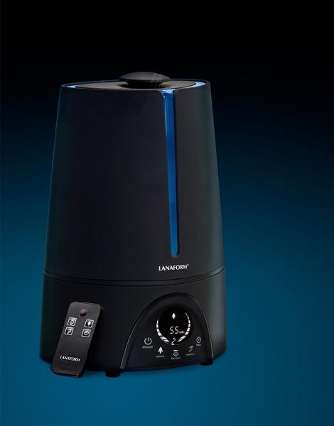 Umidificator aer Lanaform - New Vapolux capacitate 4.5l , detectare si afisare umiditate, 3 viteze, telecomanda, autonomie 12h, productie de ioni negativi 3