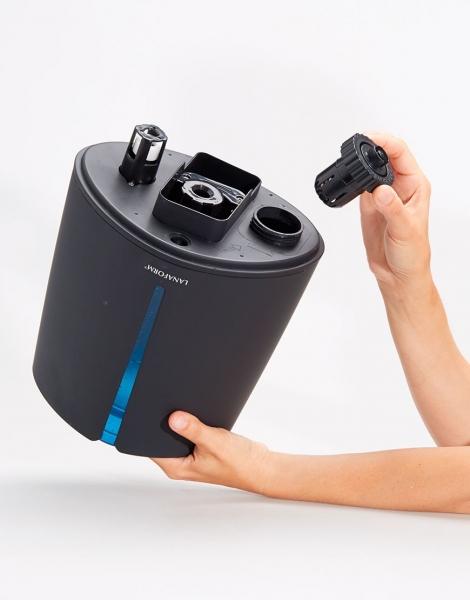 Umidificator aer Lanaform - New Vapolux capacitate 4.5l , detectare si afisare umiditate, 3 viteze, telecomanda, autonomie 12h, productie de ioni negativi 5