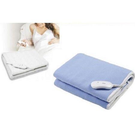 Patura electrica 150*80 pentru incalzire, culoare albastru polar, uz ca patura pentru saltea sau pentru acoperirea corpului 0