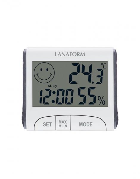Termohigrometru digital usor de citit, functie de memorie, masoara temperatura si umiditatea 0