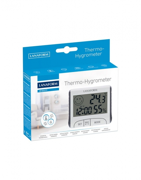 Termohigrometru digital usor de citit, functie de memorie, masoara temperatura si umiditatea [3]