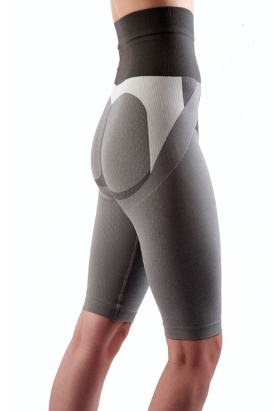 Colanti cu efect de modelare, intarire, cu turmalina, masaj 3D marime S, gri, ideali pentru activitate sportiva 2