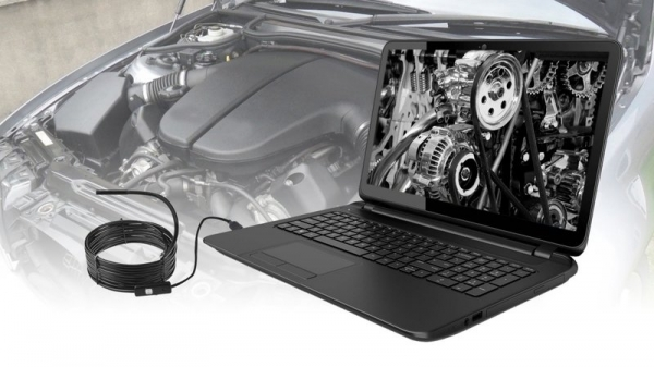 Camera cu endoscop video 6 LED-uri, conectivitate android si PC, multiple accesorii incluse, lungime cablu 5m, rezistenta la apa IP67 4