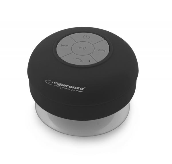 Boxa portabila cu Bluetooth acumulator incorporat cu ventuza de prindere, rezistenta la apa (ploaie dus), clasa de rezistenta la apa IPX4 design ergonomic conectivitate max 10 m material prietenos la [0]