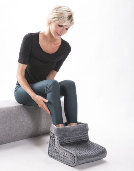 Incalzitor picioare cu tesatura confortabila, 3 nivele de caldura, protectie supraincalzire, telecomanda 1