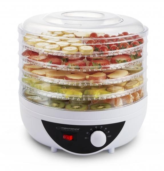 Deshidrator fructe, legume si ciuperci fara conservanti  sau alte ingrediente, 5 tavi, 8 programe, protectie la supraincalzire, picioruse reglabile 1