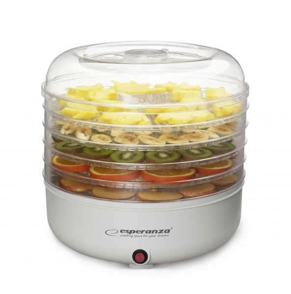 Deshidrator fructe, legume si ciuperci fara conservanti  sau alte ingrediente, 5 tavi, protectie la supraincalzire 0