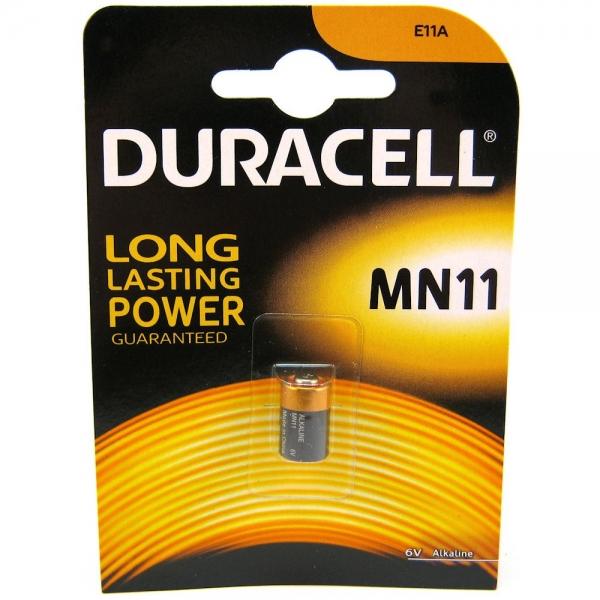 Baterie A11 sau MN11 Duracell, 6V, pentru alarme auto, telecomenzi auto, dispozitive medicale si alte dispozitive electronice 0