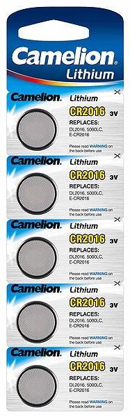 Baterii Camelion CR2016, blister de 5 buc, CR Lithium pentru telecomenzi auto si alte dispozitive [0]