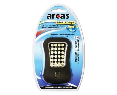 Lanterna de lucru cu LED 24+4, cu magnet puternic si carlig, Arcas 0