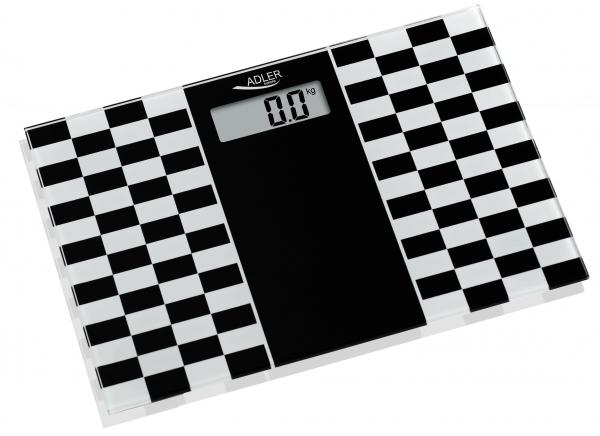 Cantar electronic de persoane, 4 senzori precisi, ecran LCD, sticla securizata, alb-negru, 150 kg max, oprire automata 2