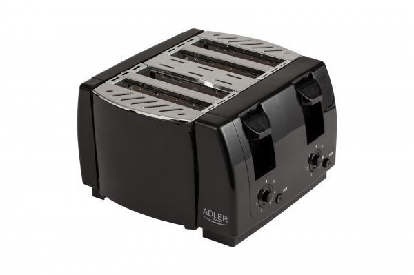 Prajitor de paine 4 felii, 7 grade de prajire 1300W, oprire automata, functie stop, negru 0